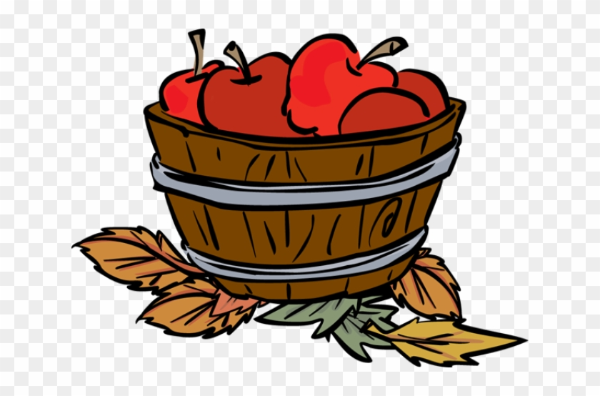Fall Apple Clipart - Apples In A Basket Clipart #102418