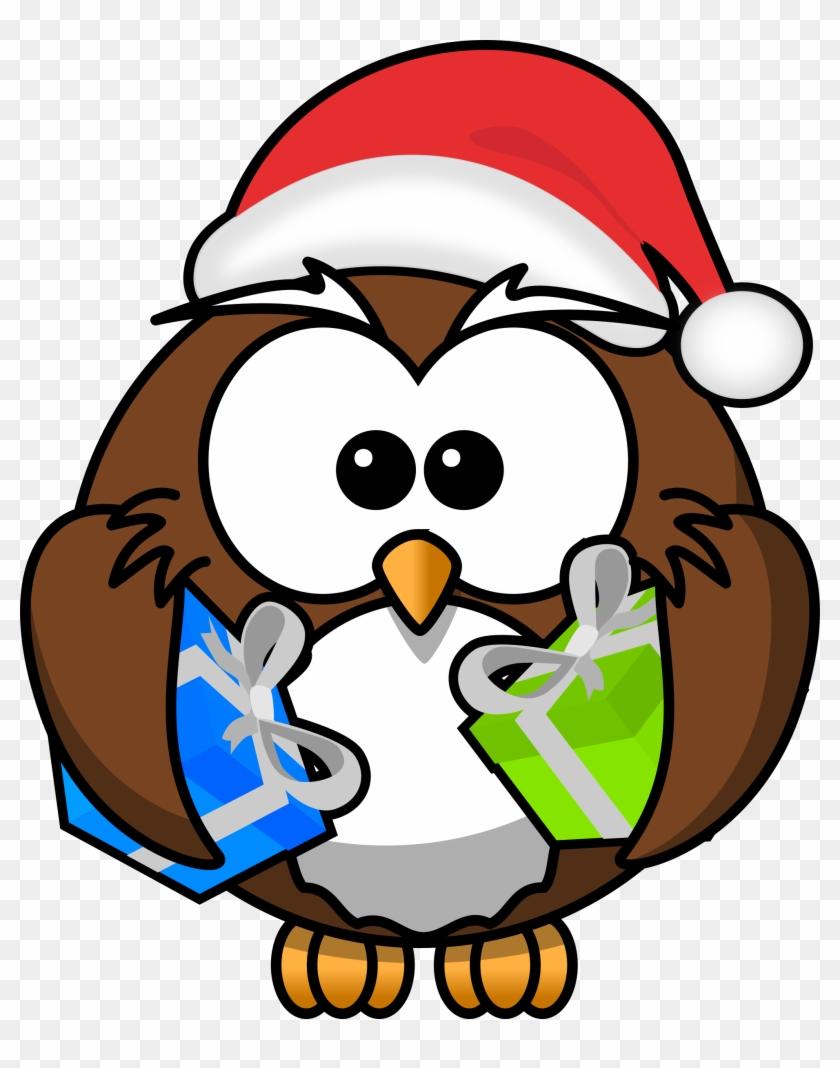 Christmas Cartoon Owls #102607