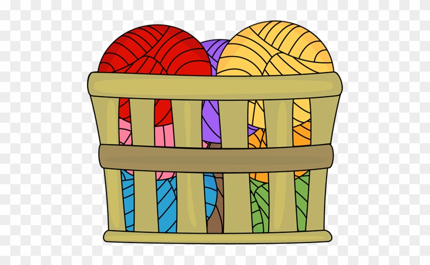 Basket Of Yarn Clip Art Image - Ball In The Basket Clipart #102677