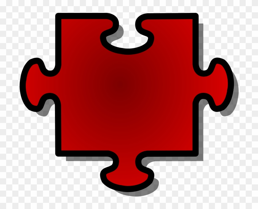 Free Vector Jigsaw Red Puzzle Piece Clip Art - Puzzle Pieces Clip Art #102719