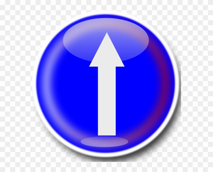 Free Vector Straight Ahead Sign Clip Art - Straight Ahead Sign #102747