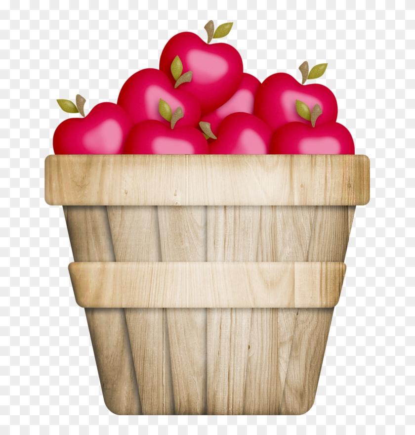 Clipart Apple In The Basket Basket Of Apples Adorable - Apple Barrel Clip Art #102787
