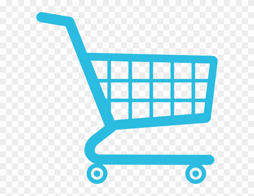 Shopping Cart Clip Art At Clker - White Shopping Cart Transparent Icon #102789