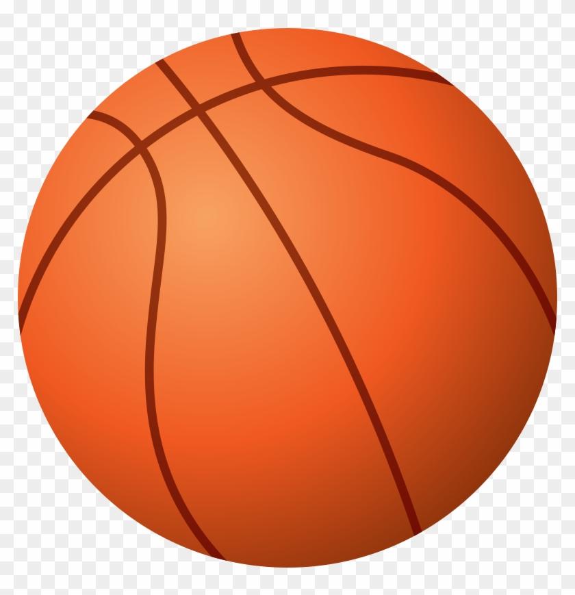 Clip Art Of Basketball - Bola De Basquete Desenho #102803