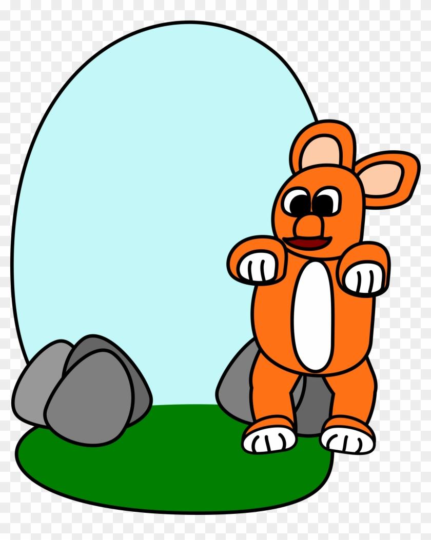 Clipart - Dancing Rabbit - Cartoon #102854