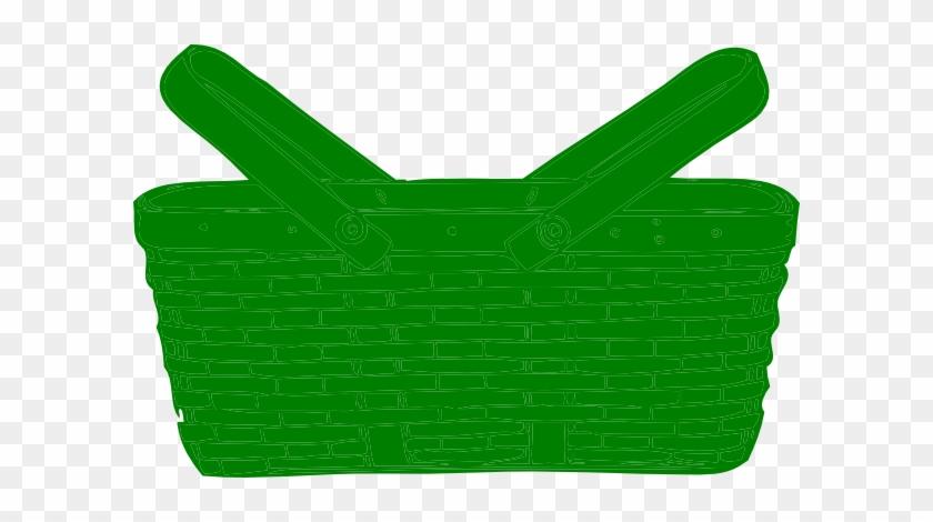 Green Basket Clip Art - Green Basket Clipart #102885