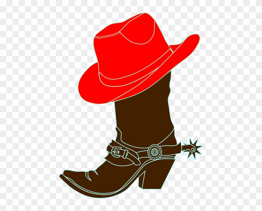 Cowboy Dancing Boots Clipart Clipart Kid - Red Cowgirl Hat And Boots #102889