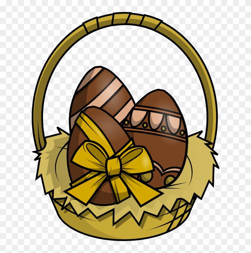 Brown Basket Cliparts - Huevos De Pascuas Dibujos #102965