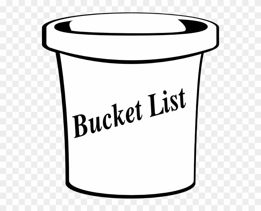 List Clip Art - Bucket List Clipart Black And White #102977