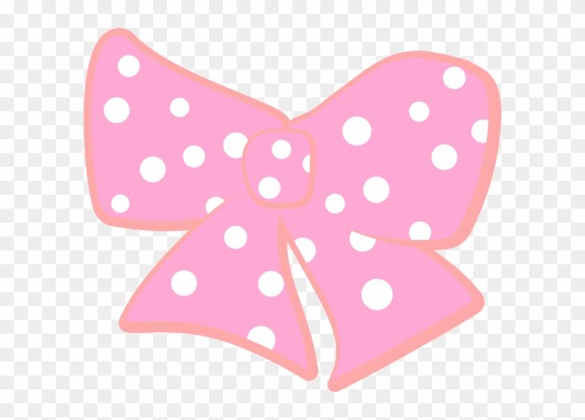 Bow With Polka Dots Clip Art At Clker - Pink Polka Dot Bows #102981