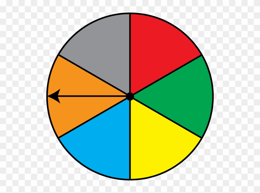 Math Clip Art Spinner 6 Sections Result - Game Spinner No Background #102990