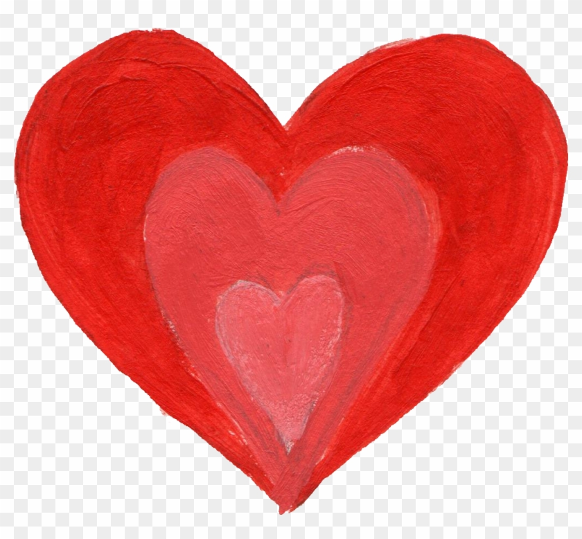 Free Download - Heart Paint Brush Png #103042
