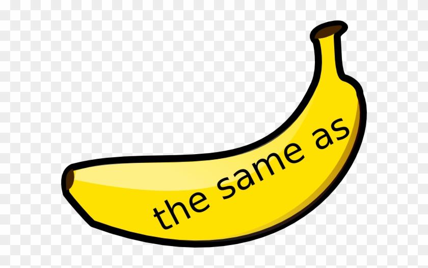 Banana Maths Vocabulary The Same As 1 Clip Art - Imagenes De Banana Para Dibujar #103075