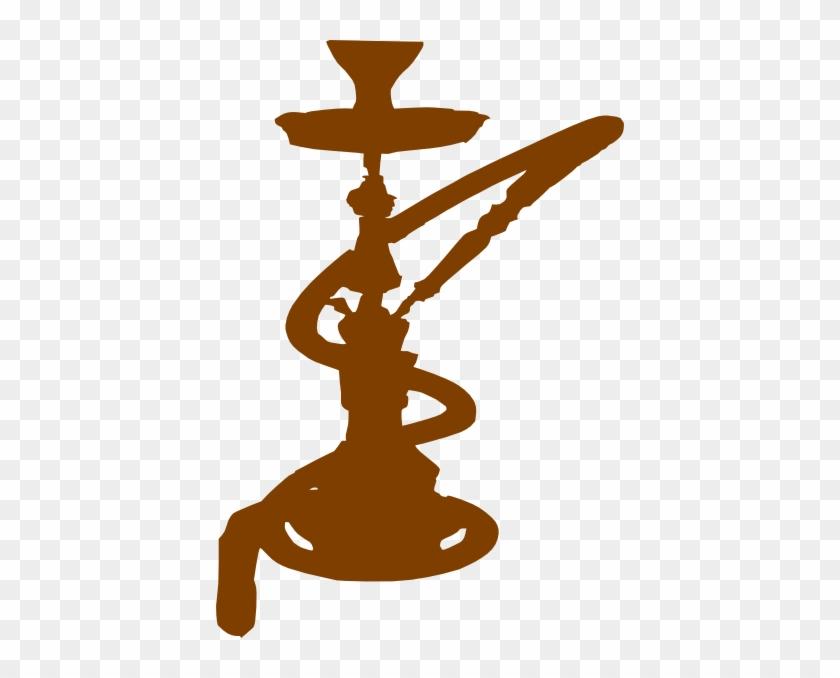 Brown Hookah Clip Art At Clker - Hookah Clip Art #103140