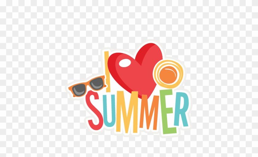 I Love Summer Title Svg Scrapbook Cut File Cute Clipart - Love Summer Clip Art #103230