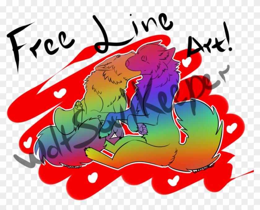 Free Wolf Love Line Art By Wolfsoulkeeper - Art #103264