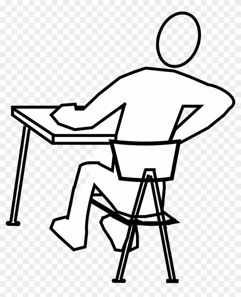 desk-312595 - draw a person sitting - free transparent png clipart