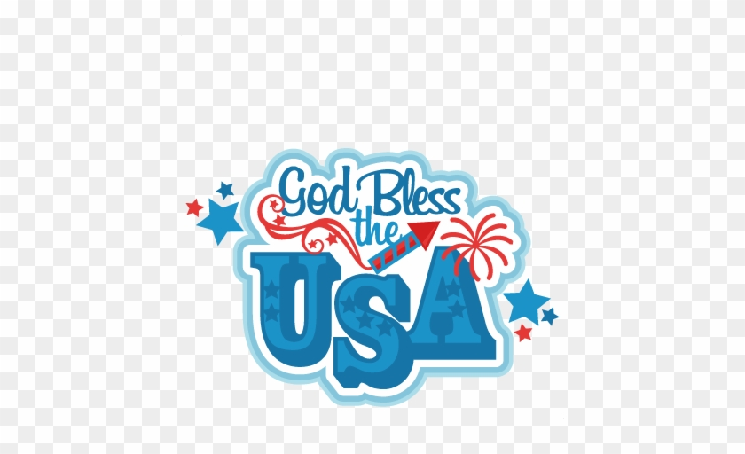 God Bless The Usa Title Svg Scrapbook Cut File Cute - July Svg Scrapbook File Cuts #545388
