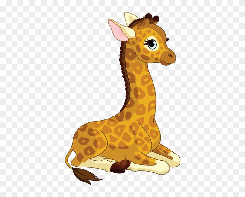 Baby Girl Giraffe Cartoon - Cute Animated Giraffe #545660