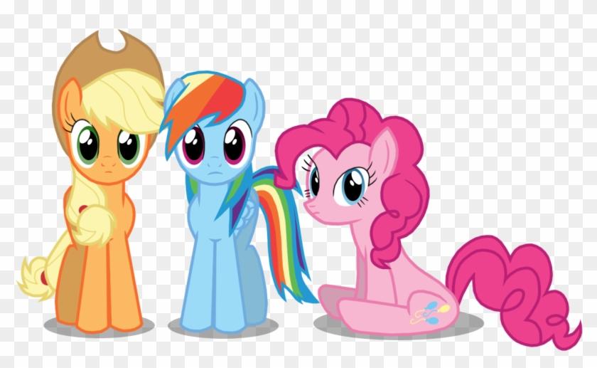 Thelastgherkin, Pinkie Pie, Rainbow Dash, Safe - Pinkie Pie Rainbow Dash Applejack #546404