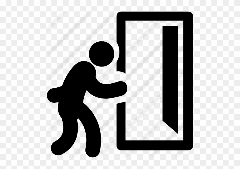 man and opened exit door running out of the door icon free transparent png clipart images download man and opened exit door running out