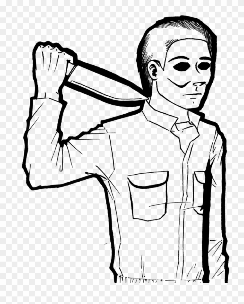 Mike Myers Lineart By Cyberii On Deviantart - Easy To Draw Michael Myers #547183