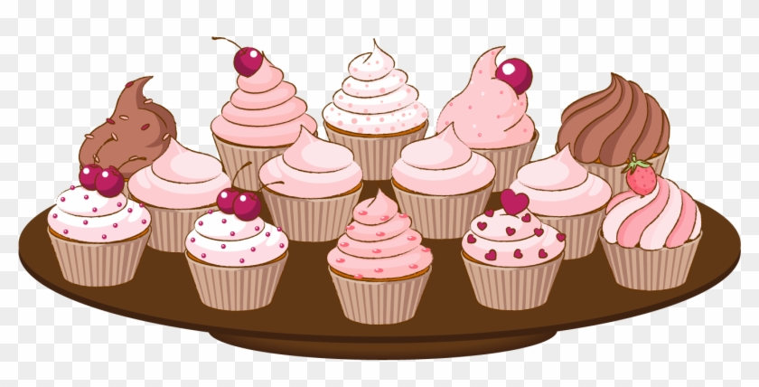 Cupcake Clipart Border - Bake Sale Clipart Png #547245