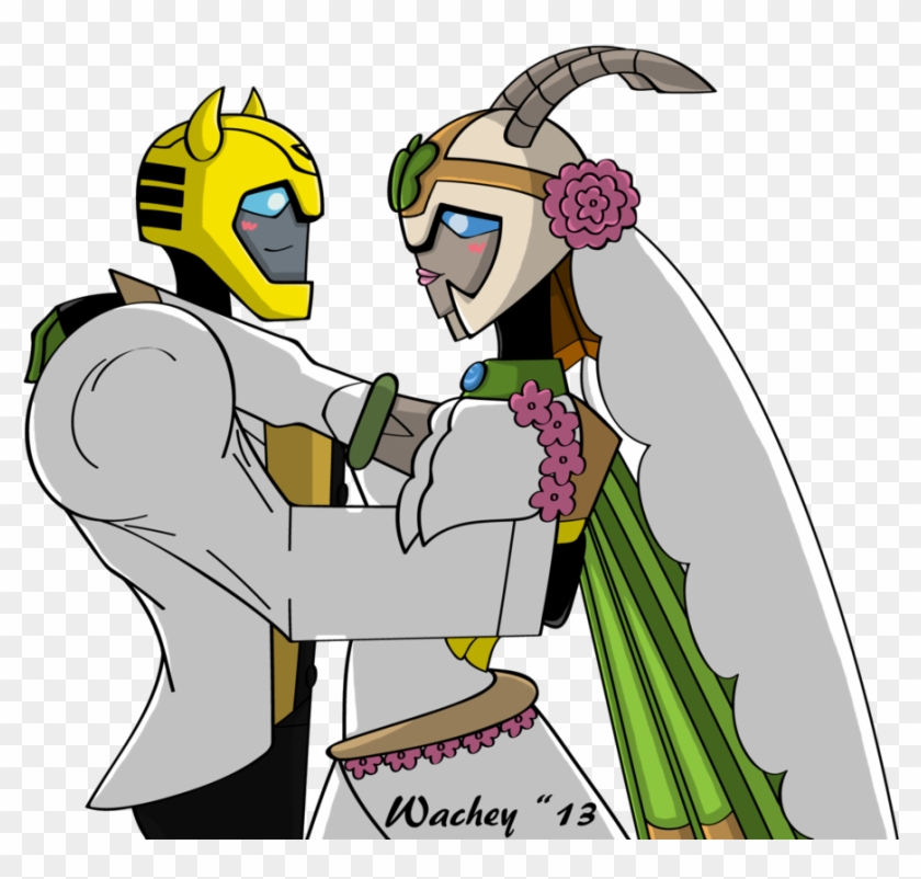 Bumblebee And Jadebutterfly Wedding Commission By Wachey