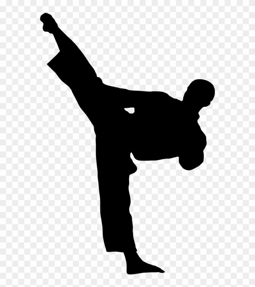 Kick Karate Martial Arts Taekwondo Clip Art Karate Kick Silhouette Free Transparent Png Clipart Images Download
