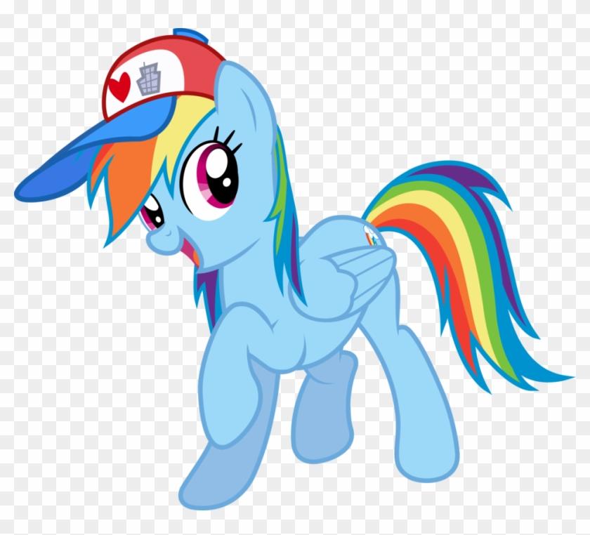 Rainbow Dash And Her Hat By Xhalesx - Rainbow Dash Baseball Cap #549274
