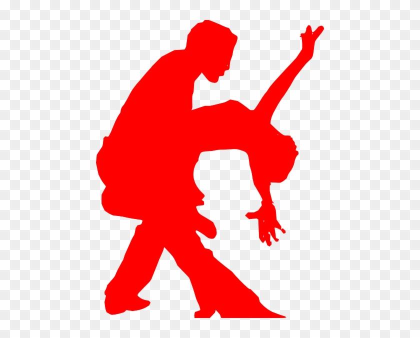 Salsa Dancing Couple Silhouette #550523