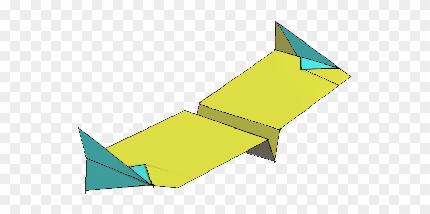 Simple Paper Airplane Flying Wing - Flying Wing Paper Plane #550614