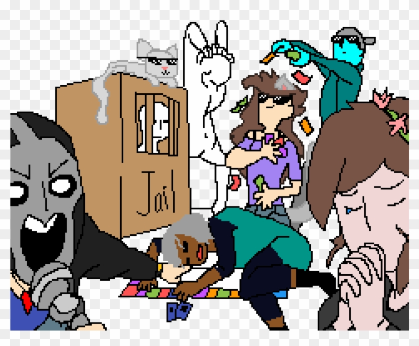 Me And My Family When We Play Board Games Cartoon Free Transparent Png Clipart Images Download