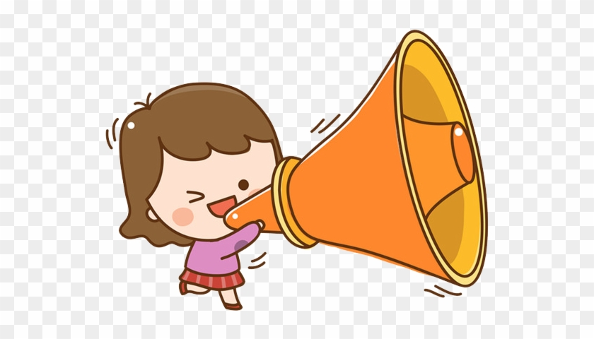 Loudspeaker Cartoon Clip Art - Shouting Cartoon Png #551321