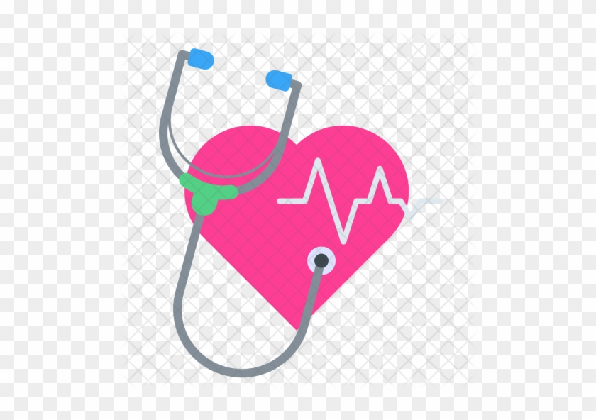 Heartbeat, Pulse, Stethoscope, Checkup, Medical, Care, - Medical Check Up Icon #551886