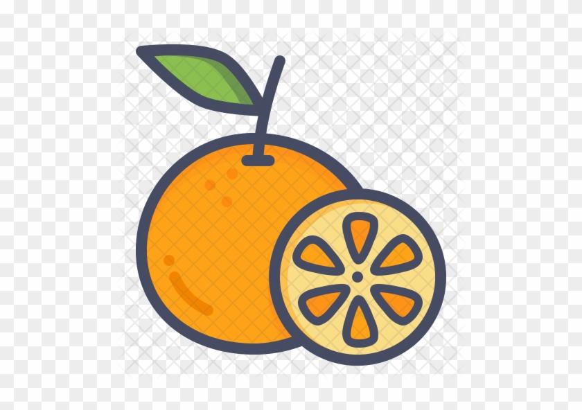 Orange Icon - Lemon Orange Icon Png #552632