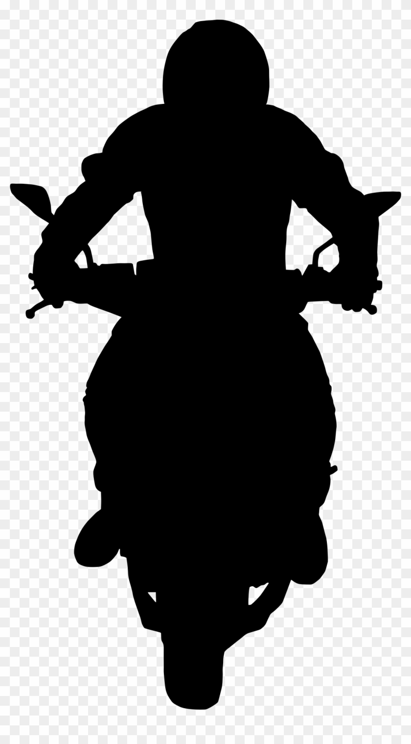 Silhouette Of A Motorcycle Clipart Motorcycle Rider Silhouette Png