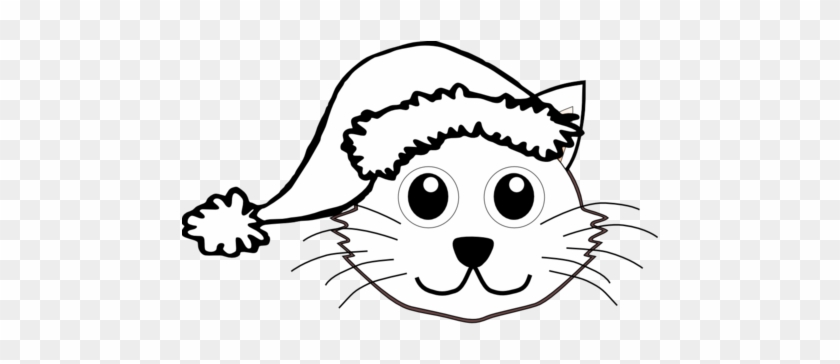 vector graphics art scalable svg clip coloring book christmas cat black and white