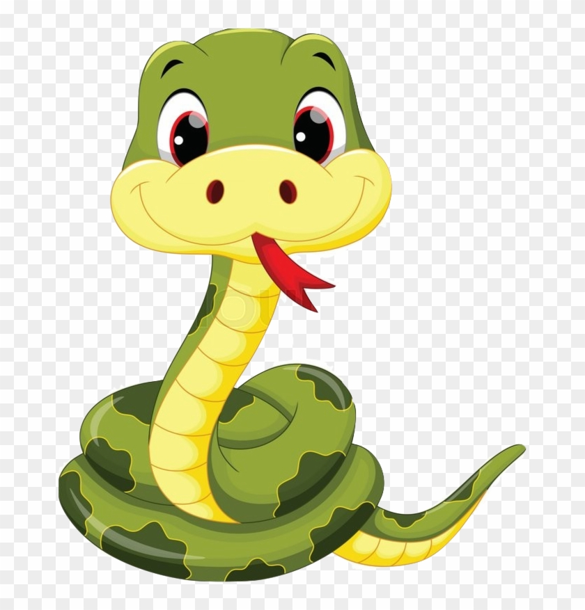 Need A Clue Click Here - Cute Cartoon Snake - Free Transparent PNG Clipart  Images Download