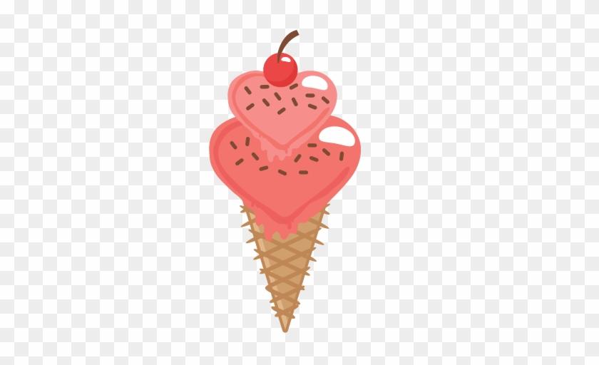 "Heart Clipart Ice Cream - Sugar Rush ""sweet Treats"" #553361"