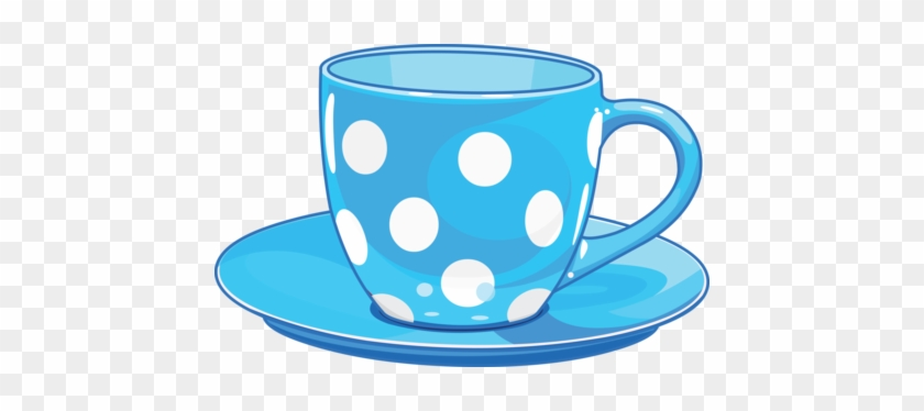 Blue Cup Cliparts - Cute Tea Cup Clipart #553620