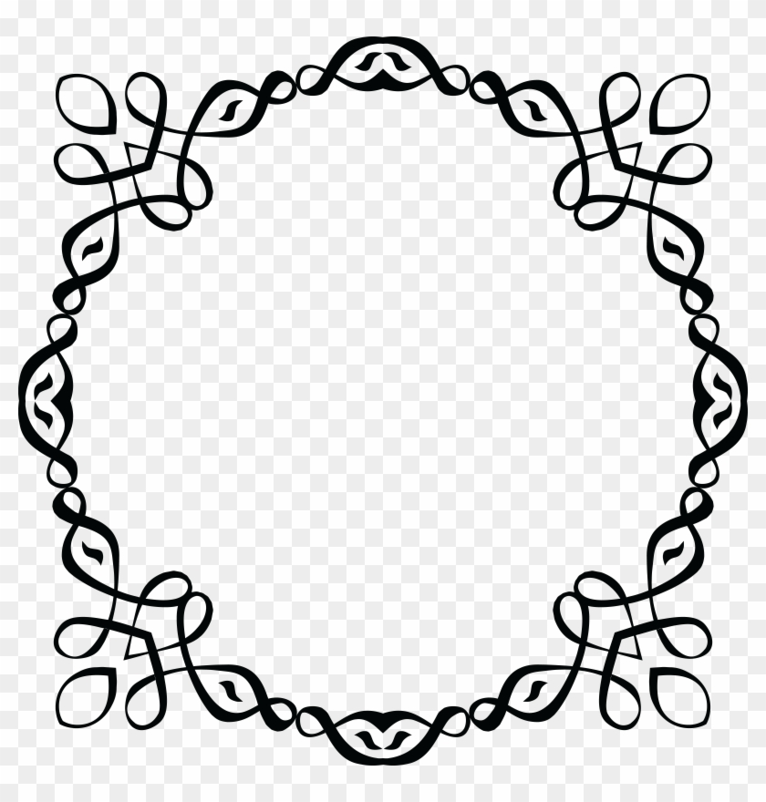 Free Clipart Of A Black And White Round Invitation Circle Free Transparent Png Clipart Images Download
