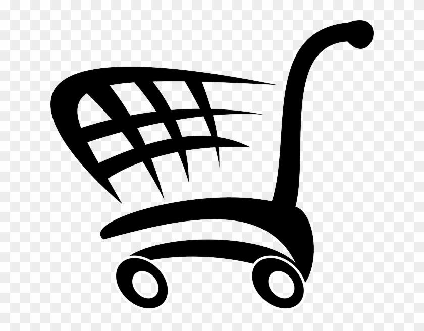 Flat, Icon, Food, Car, Cartoon, Shopping, Cart, Free - Shopping Cart Shower Curtain #554319