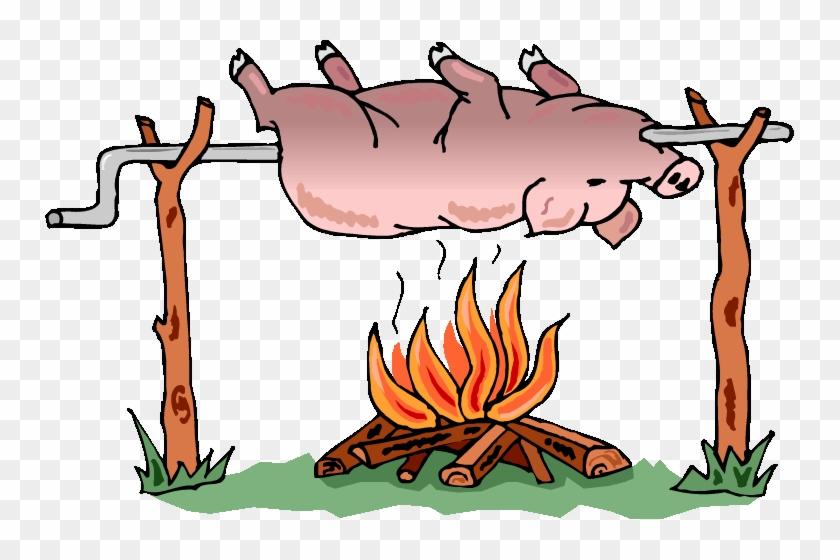 Pig On A Barbecue Pit - Hog Roast Clip Art #555842