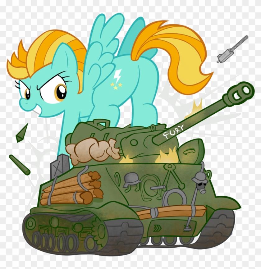 Lightning Dust Vs Sherman Tank By Waffengrunt - Mlp Tank Ww2 - Free