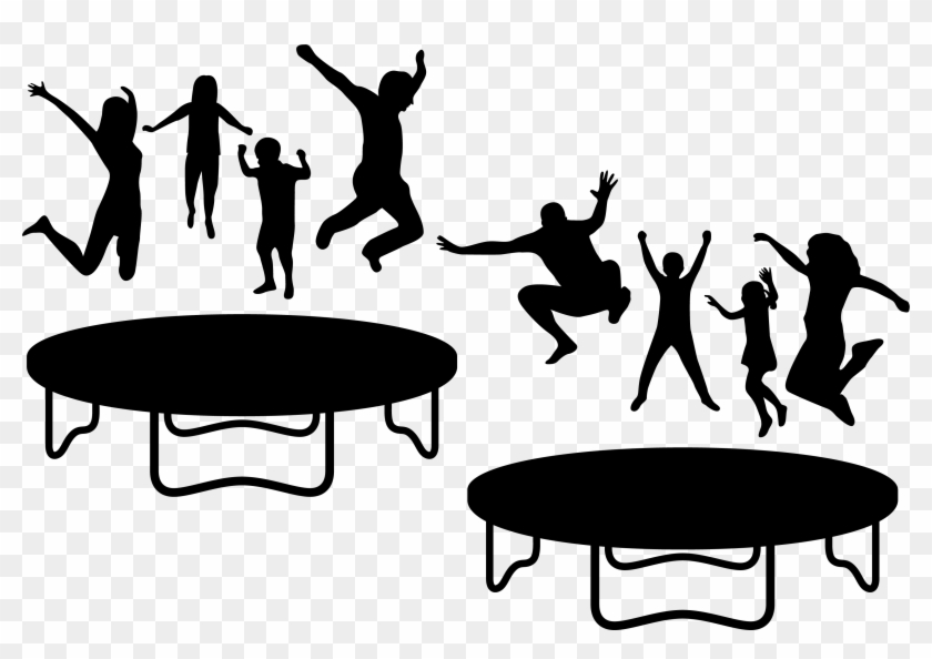 Trampoline Euclidean Vector Jumping - Trampoline Clipart Black And White #557142