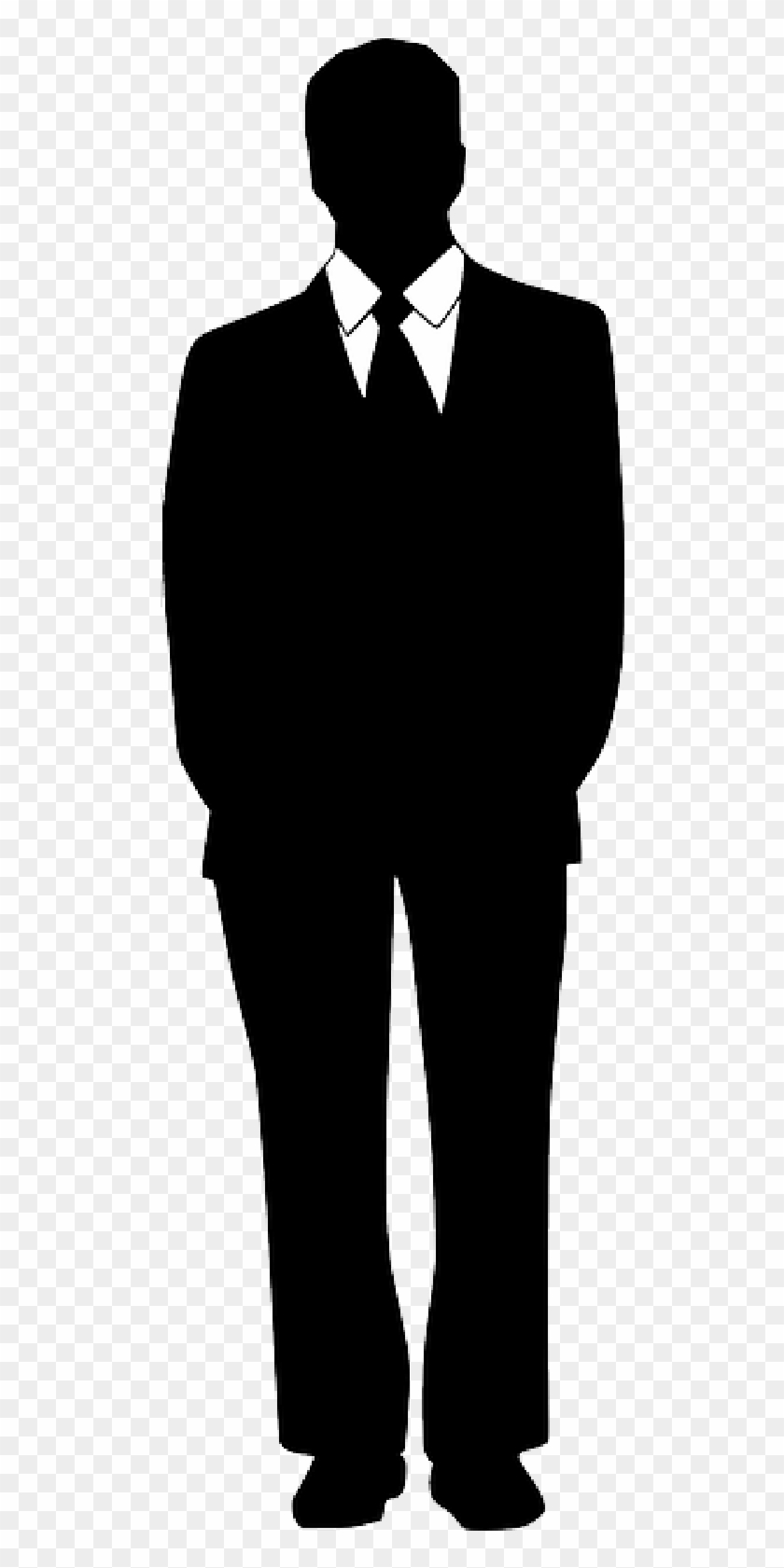 Business Suit Cliparts - Man In Suit Silhouette #557638