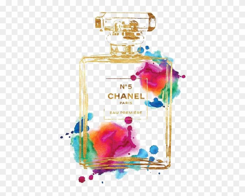 chanel 5 perfume bottle