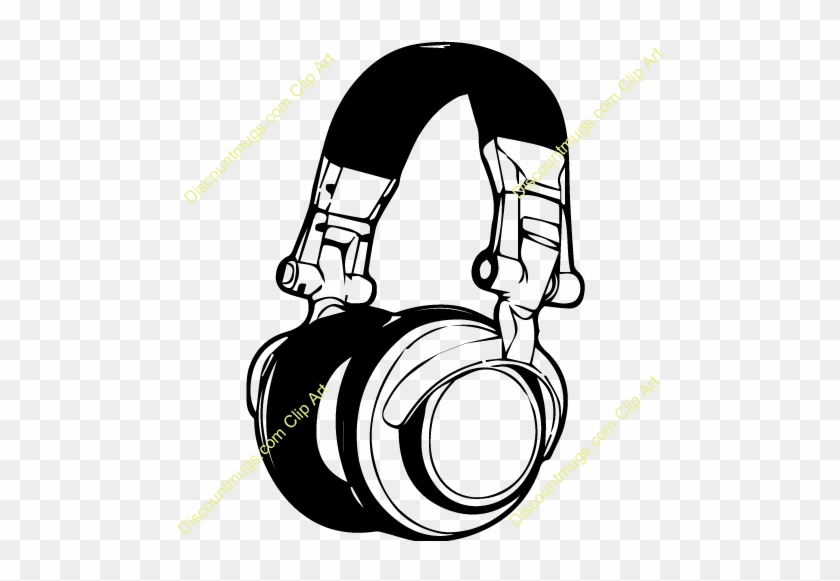 Headphones Wall Decal Sticker Music Wallpaper Dj Headset