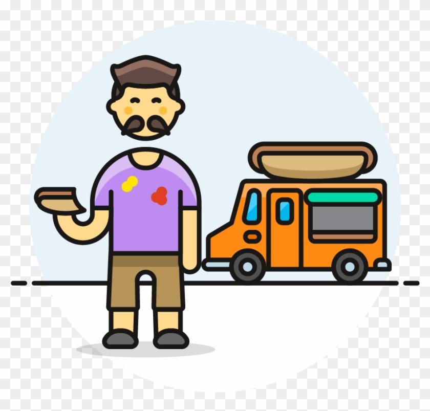 35 Hotdog Food Truck Male Asian - Fast Food #558046